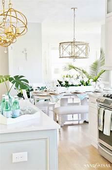 kitchen decor ideas coastal kitchen decorating ideas for sand and sisal