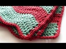 single crochet edging for soft crochet chevron blanket