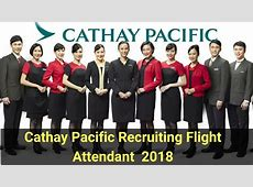 Cathay Pacific Airways Recruiting Flight Attendant On 25