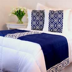 bed runner navy blue and bed runner guest bedroom