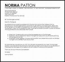 Sample Cover Letter For Finance Manager Position Tax Manager Cover Letter Sample Livecareer
