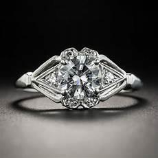 94 carat diamond platinum vintage engagement ring gia d si2