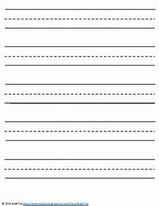 Kindergarten Paper Template Lined Writing Paper For Kindergarten Lined Paper Template