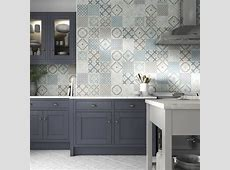 Johnson Tiles ? Select Collection ? Savoy Floor Blue Mix Natural