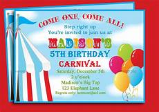 Carnival Theme Party Invitations Templates Free Printable Carnival Birthday Party Invitations Free