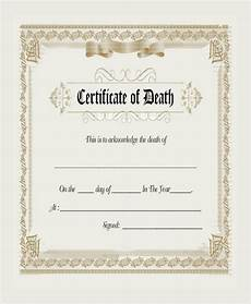 Death Certificate Print Out Free 8 Sample Blank Certificate Templates In Pdf Ms Word