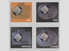 Chair Mats are Desk Mats in Ellipse, Oval, and Arc Shapes / Office Floor Mats by American Floor Mats