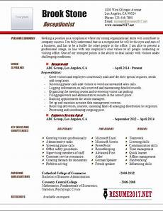 How To Write A Receptionist Resumes Receptionist Resume Example 2017