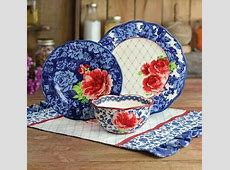 The Pioneer Woman Heritage Floral Frontier Rose Stoneware