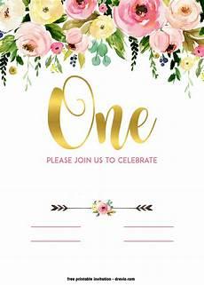 Baby Birthday Invitation Templates Free Printable 1st Birthday Invitation Vintage Style