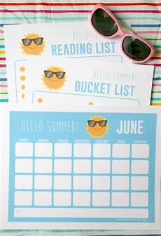 Summer Planner Calendar Printable Summer Activities For Kids Planner Oh My Creative