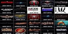 Superhero Movie Chart Superhero Movie Chart Shows Film Line Up For The Next 4