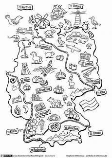 Kinder Malvorlagen Landkarten Deutschland Deutschlandkarte Wittenburg Schule