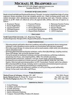Sample Respiratory Therapy Resume Resume Samples Types Of Resume Formats Examples Amp Templates