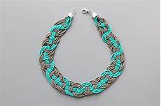 Different Bead Necklace Designs Make This Woven Bead Statement Necklace For Under 15