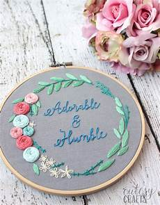 quot adorable and humble quot free floral wreath embroidery