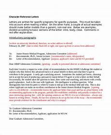 Character Letter Example 12 Sample Character Reference Letter Templates Pdf Doc