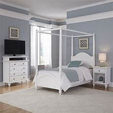 White Bed Canopy Home Styles Bermuda White Canopy Bed Stand And