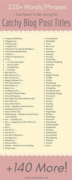 Online Title Page Maker 220 Words You Need To Use To Create Catchy Blog Post