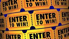 Enter The Raffle Enter To Win Contest Raffle Tickets Lucky 3 D Animation