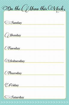 Weekly Dinner Schedule Free Printable Weekly Meal Planner In Honor Of Design