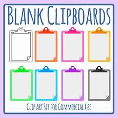 Clipboard Templates Blank Clipboard Template Clip Art Set For Commercial Use