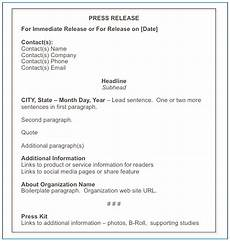 Format For Press Release How To Format A Press Release Matthews On Marketing