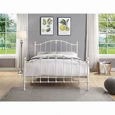 vermont king size antique white cast iron powdered coated bed