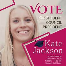 Student Council Poster Template Student Council Instagram Video Temmplate Template