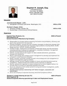 Resume H Stephen H Joseph Resume Labor And Employment