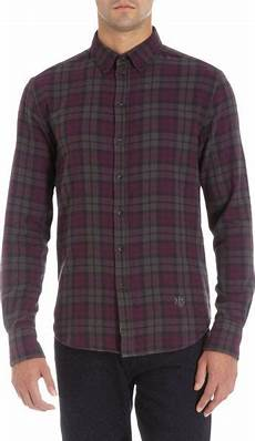 Purple Multi Check Flannel Smart Ring by Rag Bone Flannel Check Shirt In Purple For Lyst