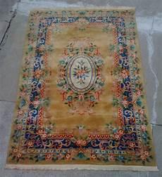 tappeto cinese tappeto cinese centr ovale ocra 1 80x2 85 brocante