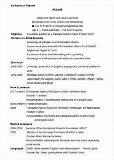 Resume Usa Template Cv Template Us Cvtemplate Template Resume Template