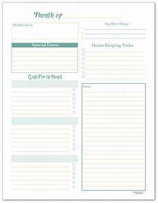 Planner Pages Monthly Planning Pages To Help You Reach Your Goals