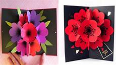 pop up card template flowers how to make a bouquet flower pop up card diy 3d flower