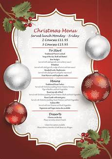 Free Blank Christmas Menu Templates Christmas Menu The Ship Inn Tiptree