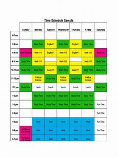 Time Management Schedule Template Free 7 Time Management Schedule Examples Amp Samples In