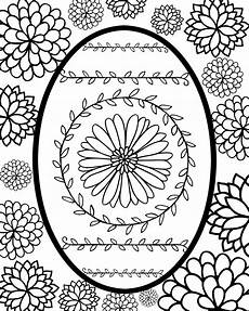 Coloring Eggs Faberge Egg Style Easter Egg Printable Coloring Page