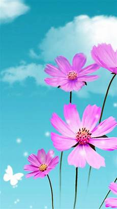 Flower Cell Phone Wallpaper by Dreamy Beautiful Galsang Flower Cloudy Sky Iphone