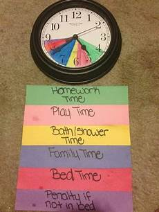 How To Make Schedules Schedule Visual Using Color Coded Clock Kids Schedule