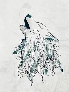 wolf print by loujah desenhos lobo desenho e