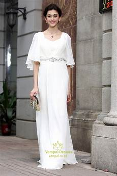 white prom dresses with sleeves white sleeve