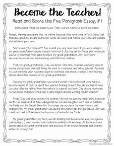 Five Paragraph Essay Example Tips For Teaching Amp Grading Five Paragraph Essays The