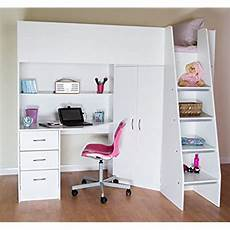 high sleeper bed with desk and wardrobe co uk