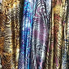 leopard printed satin fabric decor sewing craft material
