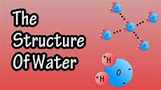 Chemical Name For Water Structure Of Water Molecule Chemistry Of Water
