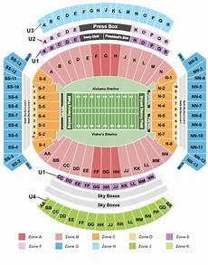 Auburn University Football Stadium Seating Chart Alabama Vs Auburn Tickets Seating Chart Bryant Denny