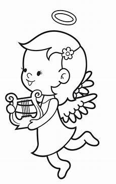 Kinder Malvorlagen Engel Kostenlose Malvorlage Engel Engel Mit Harfe Zum Ausmalen