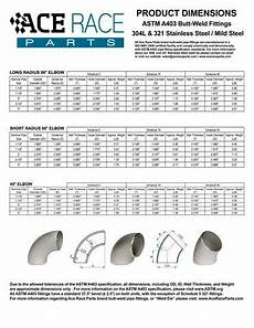 Elbow Thickness Chart 1 1 2 Quot Schedule 10 90 Degree Stainless Steel Pipe Elbow