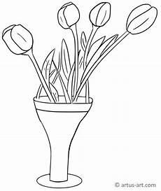 Ausmalbilder Blumenvase Blumenvase Ausmalbild 187 Gratis Ausdrucken Ausmalen